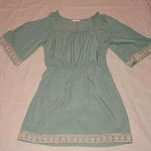 Bell Sleeve Turquoise Cold Should Dress